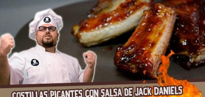 Costillas picantes con salsa de Jack Daniels