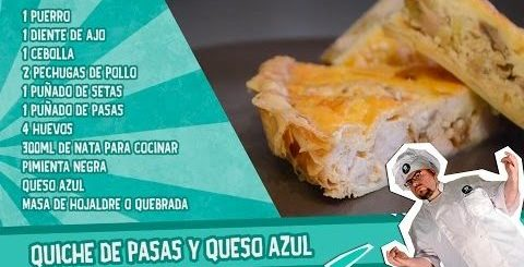 Quiche de queso azul y pasas