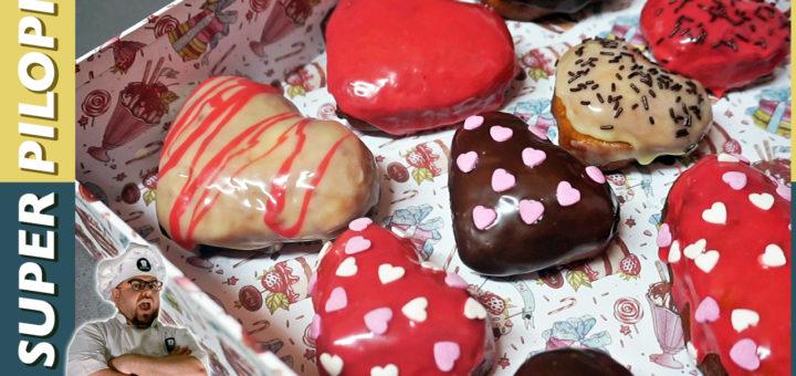 donuts o donas con forma de corazon para san valentin