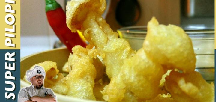 receta tempura de setas con sal de ajo y sake copy