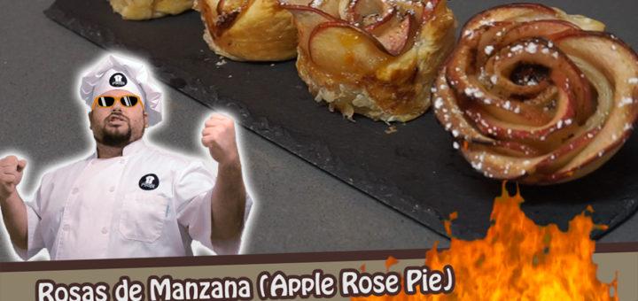 rosas de manzana o apple rose pie
