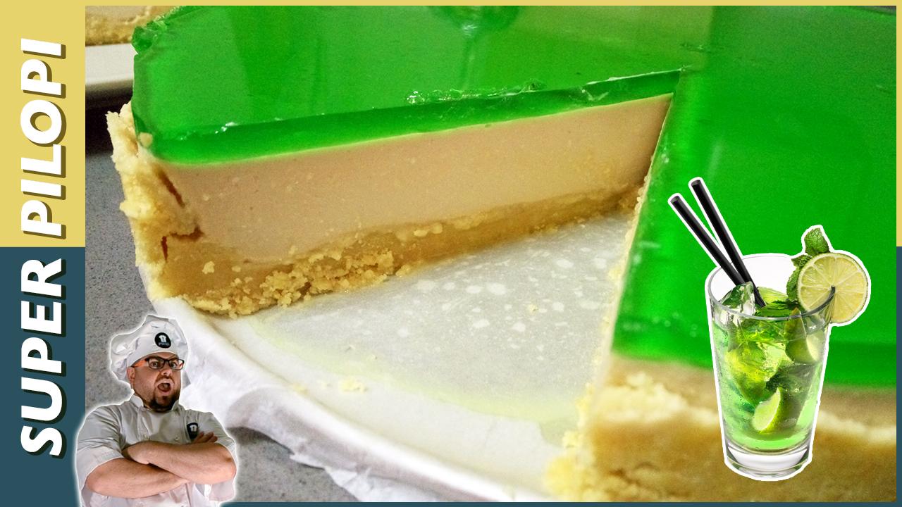 tarta de mojito con lima y azucar moreno