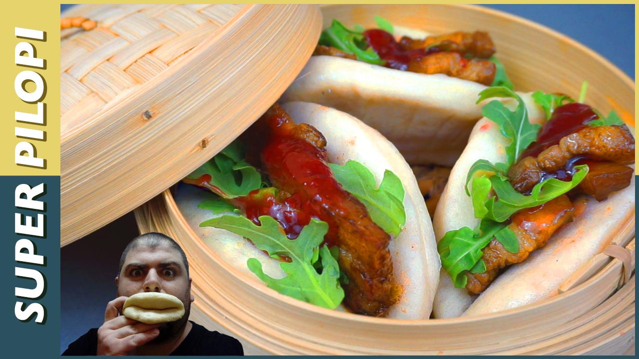 bao cerdo caramelizado mermelada fresa rucula pan chino Steamed Buns copy