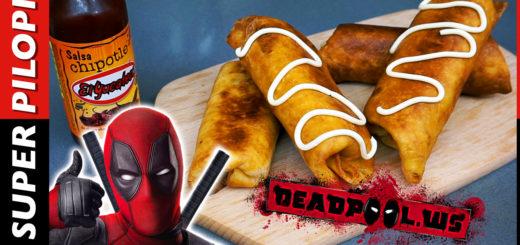 Deadpool chimichangas burritos fritos rellenos rollitos