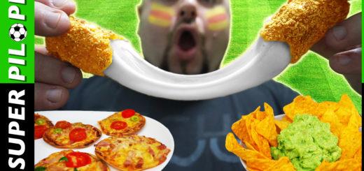 palitos de mozzarella nachos guacamole doritos rebozados mini pizzas futbol furboleros snacks rapido facil