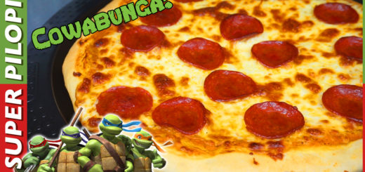 pizza de pepperoni estilo tortugas ninja mozzarella masa para pizza casera cowabunga teenage ninja turtles