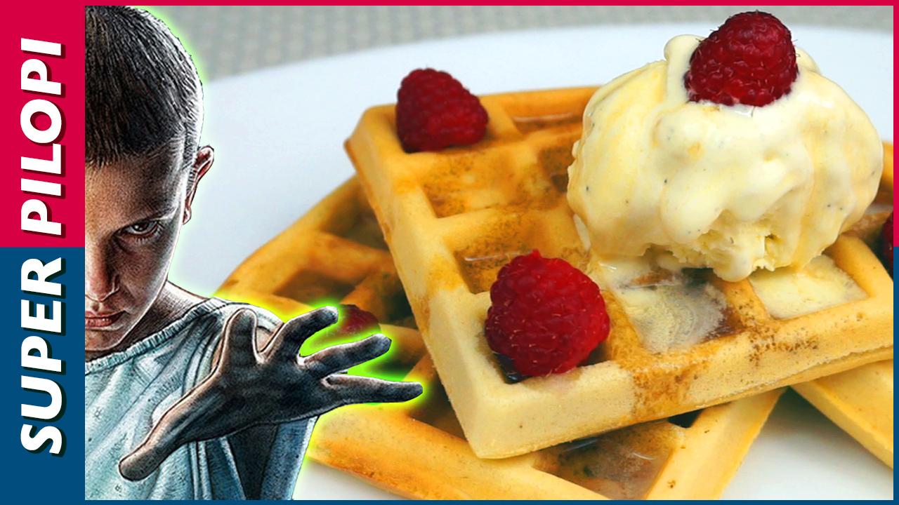 stranger things eleven waffles gofres helado sirope de arce netflix eggo