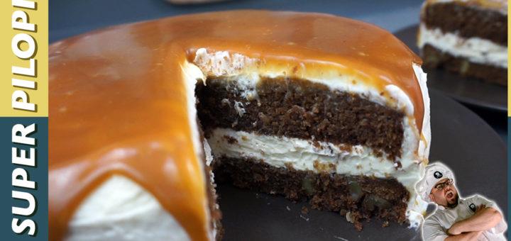 tarta de brownie con queso mascarpone y crema de toffee millon de suscriptores tedigos tedigocomosehace tdcsh te digo como se hace