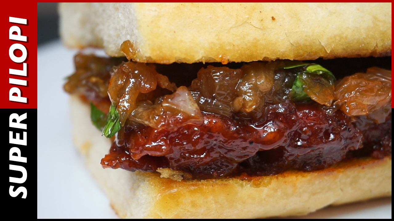 costillar caramelizado americano cebolla bocadillo sandwich pilopi superpilopi el mejor bocadillo del mundo