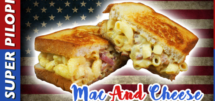 mac and cheese sandwitch macarrones con queso cheedar bacon frito receta americana superpilopi papeo pilopi