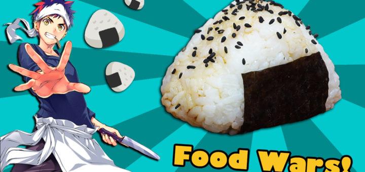 onigiri food wars shokugeki no soma arroz pastelito pastel cerdo miso miel ajo sesamo negro nori sushi japonesa receta soja salsa