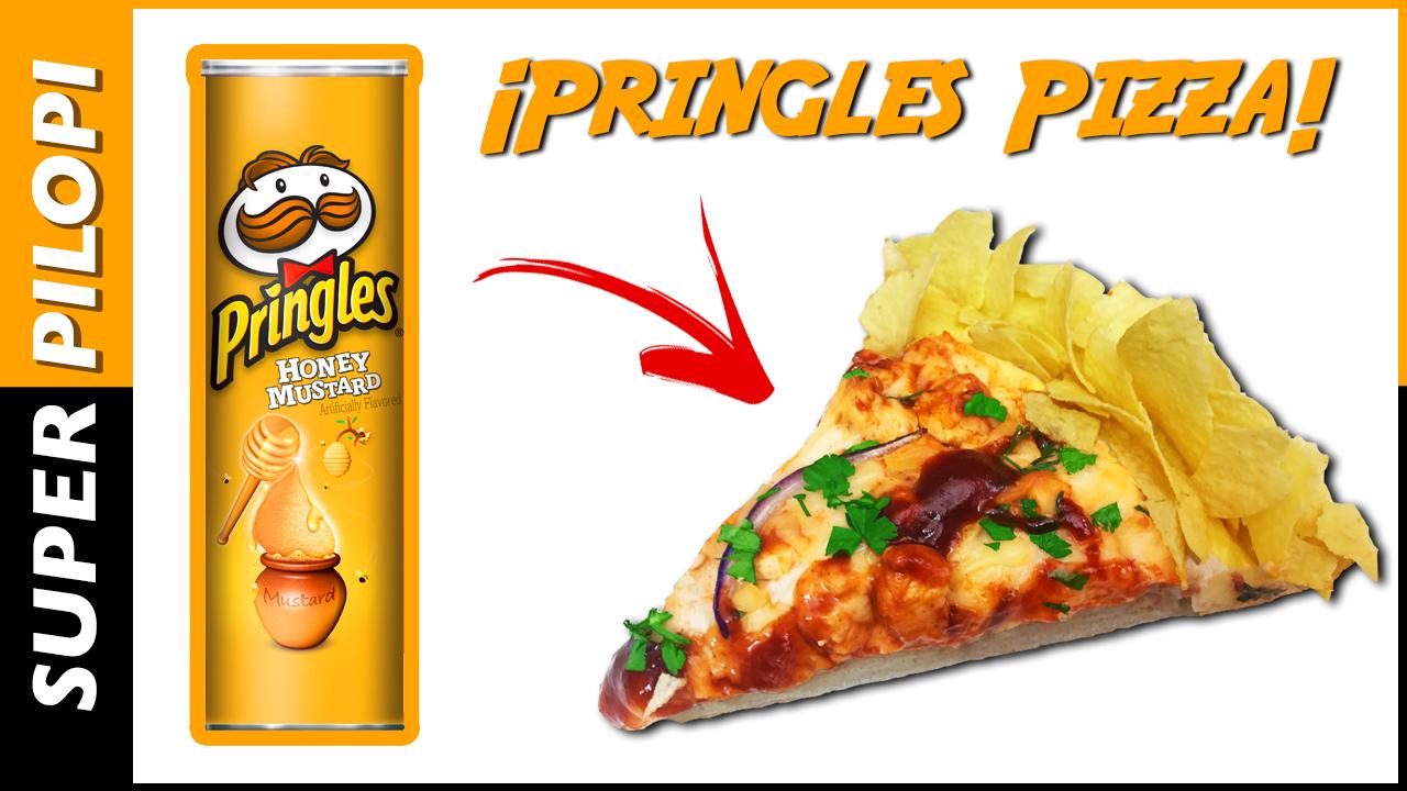 pringles Doritos Crunchy Crust Pizza Pizzahut miel mostaza barbacoa pollo mozzarella crujiente borde relleno patatas fritas
