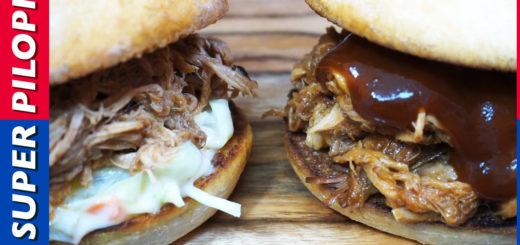 pulled pork cerdo desmigado receta americana barbacoa burguer bocadillo foodporn ensalada col