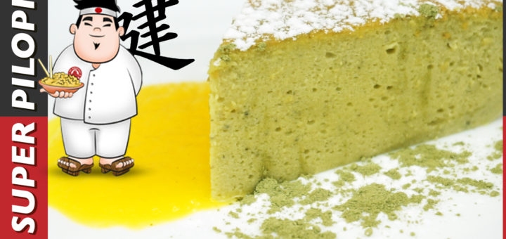 tarta japonesa te matcha chocolate blanco queso philadelphia receta japon facil esponjosa huevos merengue crema