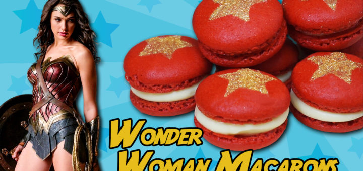 wonder woman macarons french receta dc comics superman rojo estrella pintura dorada