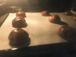 Masa de galletas en el horno