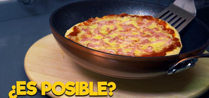 pizza sin horno sarten queso masa casera casa receta facil rapido tomate natural mozarella bacon ahumado pepperoni pilopi superpilopi
