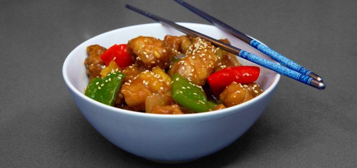 cerdo agridulce puerco receta chino estilo pimiento sesamo pollo salsa pilopi superpilopi