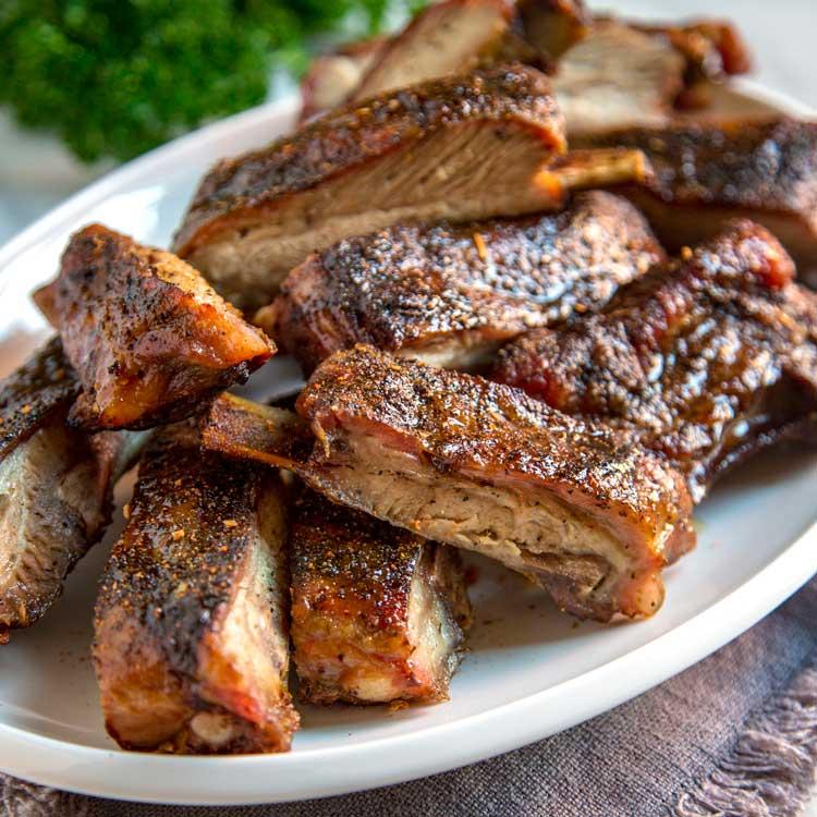 Costillas de cerdo asadas a la barbacoa con mi marinado especial