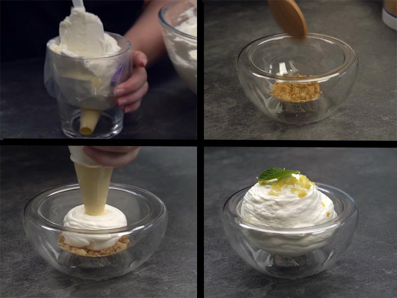Emplatado mousse de limón