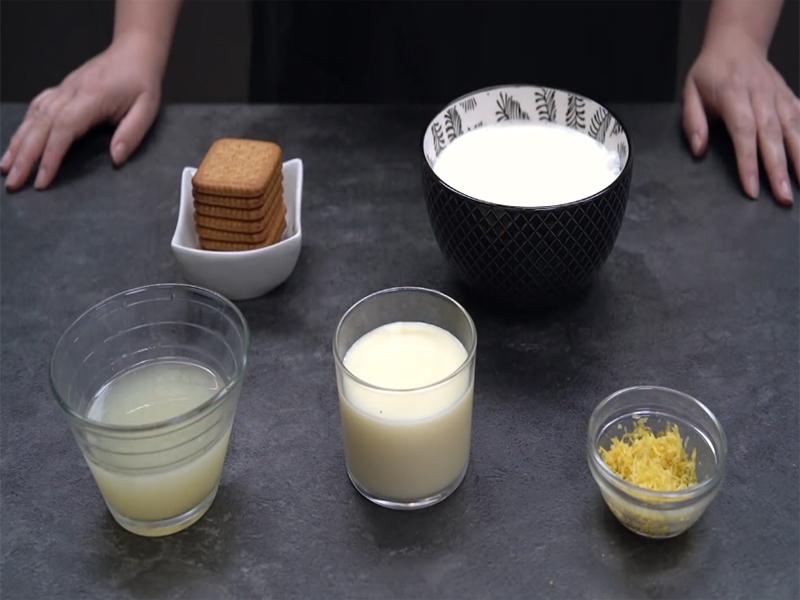 Ingredientes mousse de limón