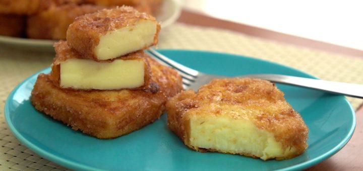 Leche Frita semana santa tradicional abuela azucar crema canela