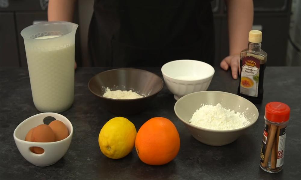 Ingredientes necesarios para cocinar leche frita