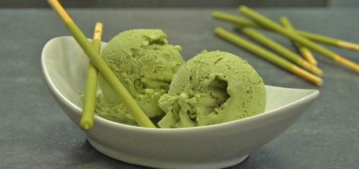 Emplatado helado té matcha