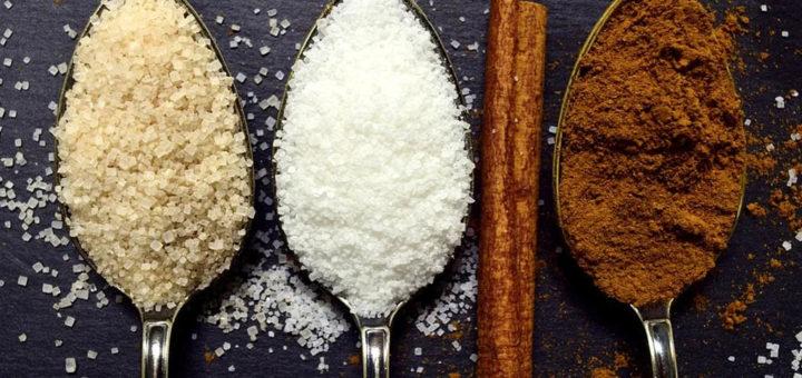 Azúcar blanco, moreno y canela
