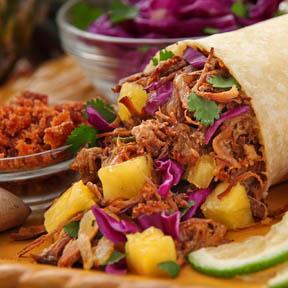 Burrito con piña