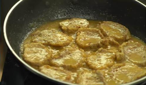 Solomillo con salsa de mostaza