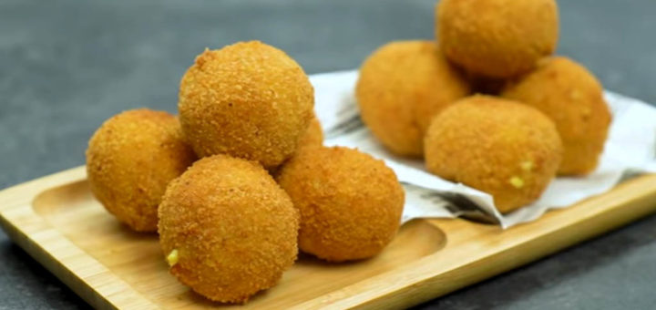 croquetas de pollo y curry