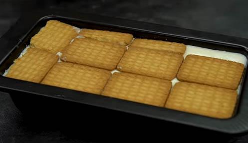 cubrir con galletas