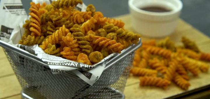 snacks de pasta con especias