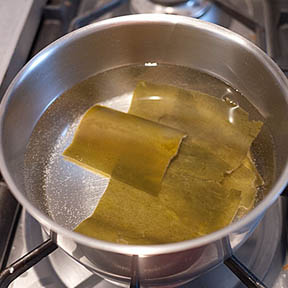 alga kombu para hacer caldo dashi