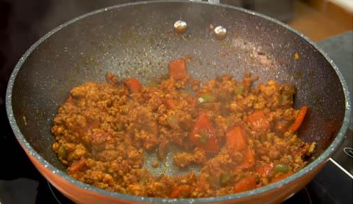 cocinar la carne picada