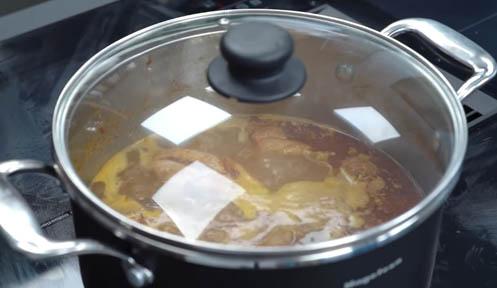 cocinar el pollo
