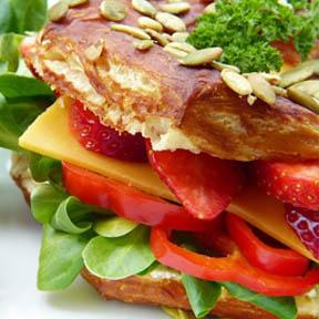 sandwich con fresas