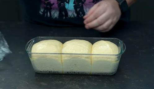 masa de pan de leche lista para hornear