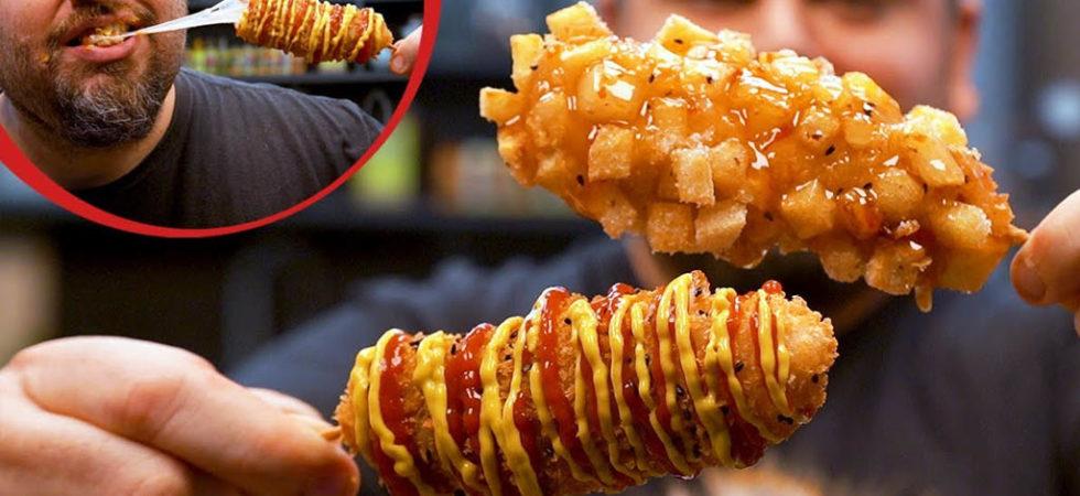 Corn dogs coreanos