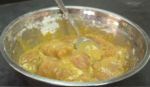 Mezcla de pollo con maicena
