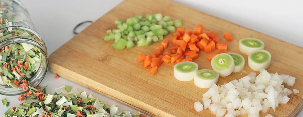 tipos de corte de verduras