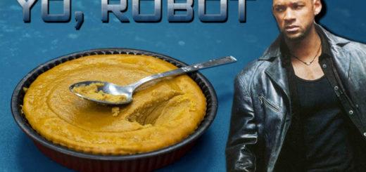 Pastel de boniato de yo robot