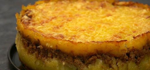 Pastel de carne barbacoa y patata