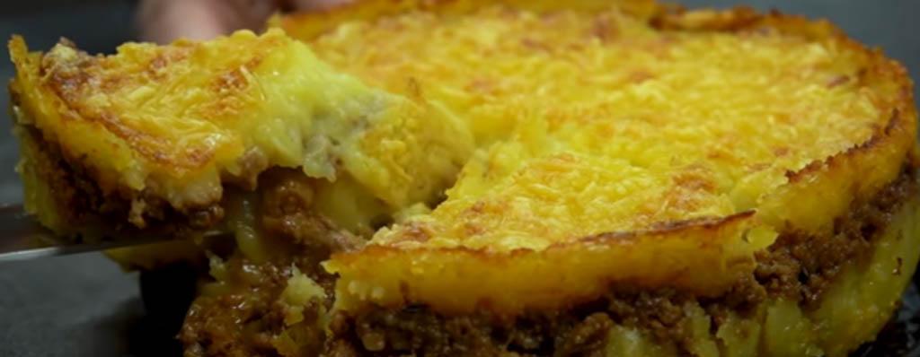 pastel de carne patata y queso