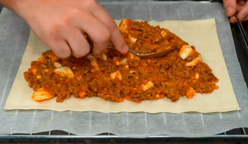 Rellenar la empanada