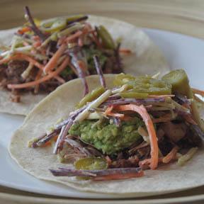 Tacos veganos de jackfruit