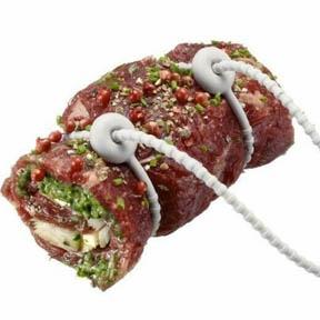Carne bridada con bridas de silicona